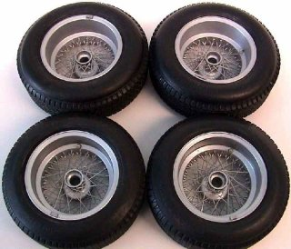 Autograph 1/12 Borrani wheel kit for var. models (with Dunlop Racing tires)