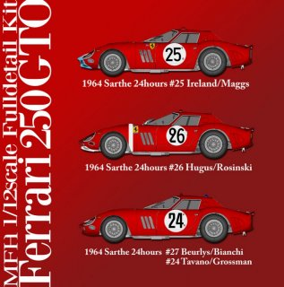 Model Factory Hiro 1/12 Automodellbausatz K447 Ferrari GTO 1964 (Version C)