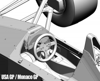 Model Factory Hiro 1/12 Automodellbausatz K456 McLaren 4/5B (Version B) GP Monaco