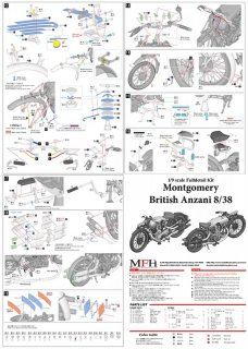 Model Factory Hiro 1/9 motorcycle kit K540 Montgomery British Anzani 8/38 h. p.