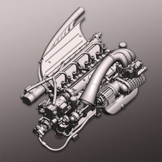 Model Factory Hiro 1/12 Engine Kit KE014 Alfa Romeo Tipo 158