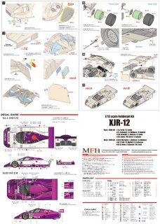 Model Factory Hiro 1/12 car model kit K595 Jaguar XJR-12 Le Mans (1990) Version A - LIMITED 100 KITS