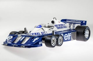 Model Factory Hiro 1/12 car model kit K599 Tyrrell P34 (1977) Version (A) with slick tires