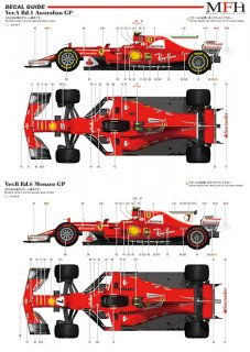 Model Factory Hiro 1/12 car model kit K 608 Ferrari SF70H (2017) Proportion Kit Vers. (B)