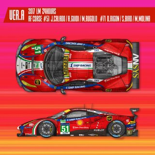 Model Factory Hiro 1/12 car model kit K 617 Ferrari 488GTE (2017) Proportion Kit Vers. (A)
