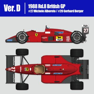 Model Factory Hiro 1/12 car model kit K627 Ferrari F187/88 (1988) Version (D)