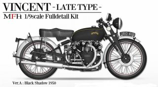 Model Factory Hiro 1/9 K621 Motorradbausatz Vincent Black Shadow (1950)