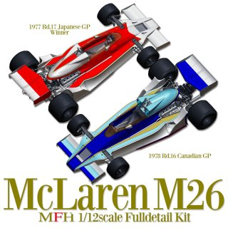 Model Factory Hiro 1/12 Automodellbausatz K666 McLaren M26 (1978) Version C
