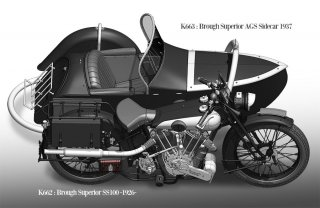 Model Factory Hiro 1/9 motorcycle kit K662 Brough Superior SS100 (1926)