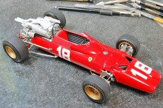 Model Factory Hiro 1/20 Automodellbausatz K158 Ferrari 312 F1 (1969) Version F