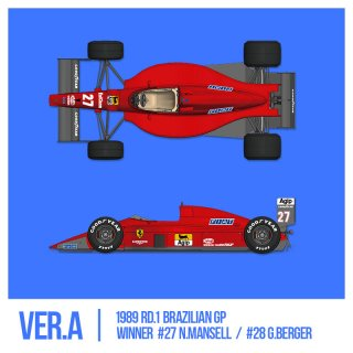 Model Factory Hiro 1/12 Automodellbausatz K694 Ferrari F189 (640) 1989 Version A