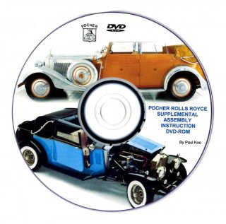 Paul Koos DVD for Pocher 1/8 kits: Rolls Royce models