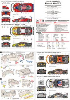 Model Factory Hiro 1/24 Automodellbausatz K630 Ferrari 488 GTE (2017) Version B