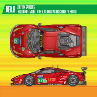 Model Factory Hiro 1/24 car model kit K630 Ferrari 488 GTE (2017) Version B
