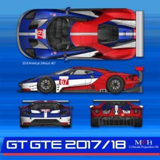 Model Factory Hiro 1/24 Automodellbausatz K633 Ford GT GTE (2017)