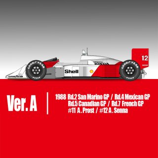 Model Factory Hiro 1/20 car model kit K697 McLaren MP4-4 (1988) Version A