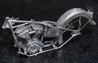 Model Factory Hiro 1/9 motorcycle kit K712 Harley Davidson Panhead (19480)