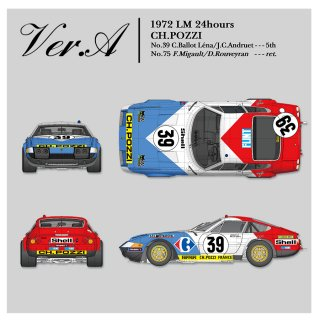 Model Factory Hiro 1/12 car model kit K699 Ferrari 365GTB/4 LM (1972) Version A