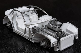 Model Factory Hiro 1/12 Automodellbausatz K700 Ferrari 365GTB/4 LM (1973) Version B