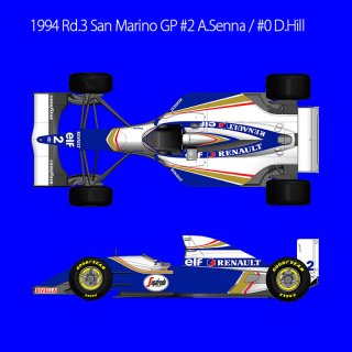 Model Factory Hiro 1/20 Automodellbausatz K731 Williams FW16 (1994) Ver. C