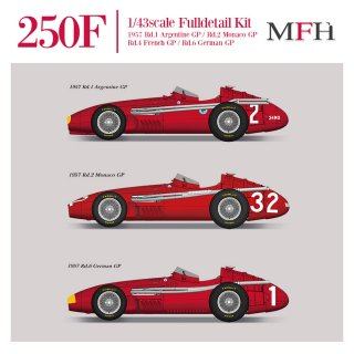 Model Factory Hiro 1/43 car model kit K746 Maserati 250F (1957) Version B