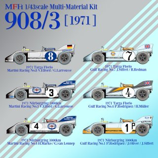 Model Factory Hiro 1/43 Automodellbausatz K578 Porsche 908/3 (1971) Version E