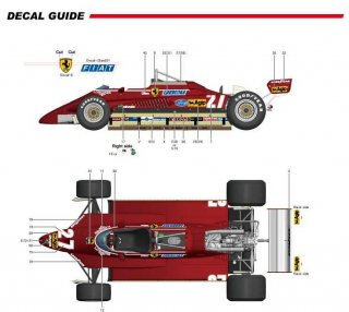 Model Factory Hiro 1/12 Automodellbausatz K433 Ferrari 126C2 F1 (1982) Version A