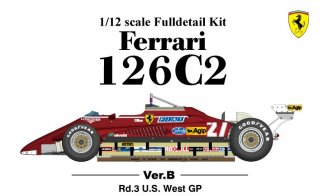 Model Factory Hiro 1/12 Automodellbausatz K434 Ferrari 126C2 F1 (1982) Version B
