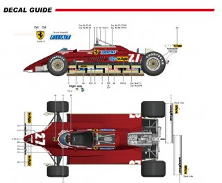 Model Factory Hiro 1/12 car model kit K434 Ferrari 126C2 F1 (1982) version B