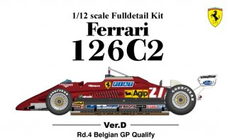 Model Factory Hiro 1/12 Automodellbausatz K436 Ferrari 126C2 F1 (1982) Version D