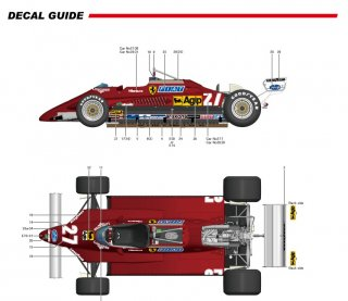 Model Factory Hiro 1/12 car model kit K436 Ferrari 126C2 F1 (1982) version D
