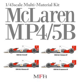 Model Factory Hiro 1/43 car model kit K547 McLaren MP4/5B (1990) Version B