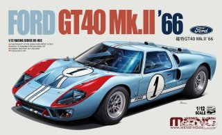 Meng 1/12 Automodellbausatz Ford GT40 MKII Le Mans Sieger (1966)