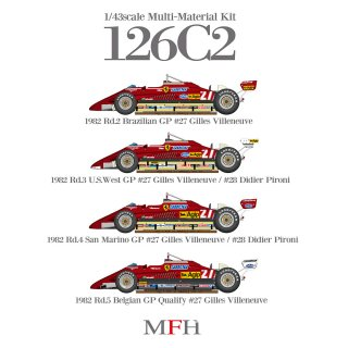 Model Factory Hiro 1/43 car model kit K765 F 126 C2 (1982) Version A