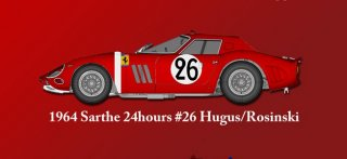 Model Factory Hiro 1/12 car model kit K446 Ferrari GTO 1964 (version B)