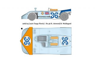 Model Factory Hiro 1/24 Automodellbausatz K355 P 908/3 (Version C) Targa Florio 1970 #36