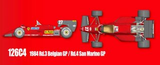 Model Factory Hiro 1/12 Automodellbausatz K469 Ferrari 126C4 (Version A)