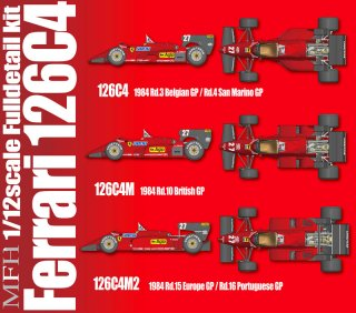 Model Factory Hiro 1/12 Automodellbausatz K471 Ferrari 126C4 M2 (Version C)
