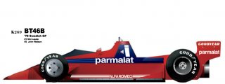 Model Factory Hiro 1/20 car model kit K269 Brabham BT46B (1978)