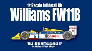 Model Factory Hiro 1/12 Automodellbausatz K473 Williams FW11B (1987) Japanese GP #5 #6 (B)