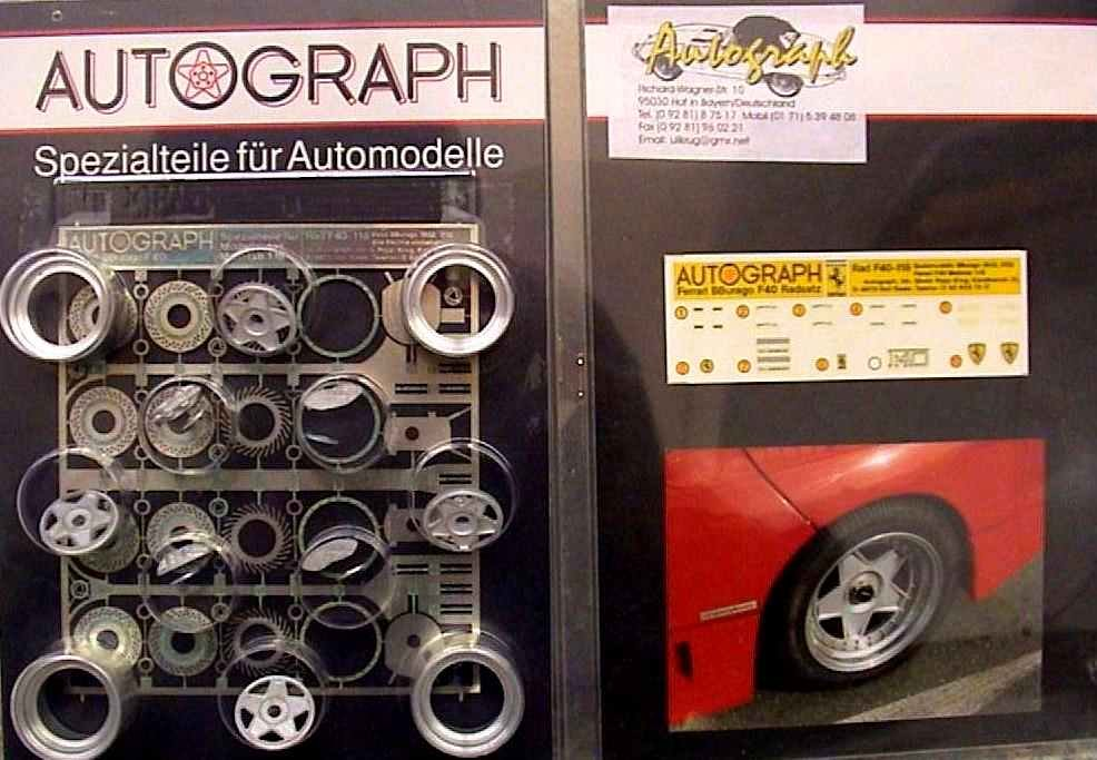 ferrari f40 kit wheel bburago autograph base autographmodel