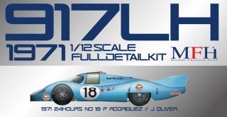 Model Factory Hiro 1/12 Automodellbausatz K500 Porsche 917 LH (1971) Version C #18