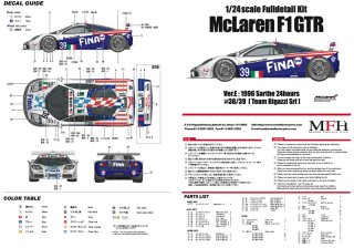 Model Factory Hiro 1/24 Automodellbausatz K362 McLaren F1 GTR Version E