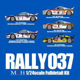 Model Factory Hiro 1/24 car model kit K504 Lancia 037 Rallye (A) #1