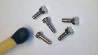 Stainless steel hexagonal model screw, M1,0 x 3 mm (SW 1.5 mm) - pack of 50 pcs