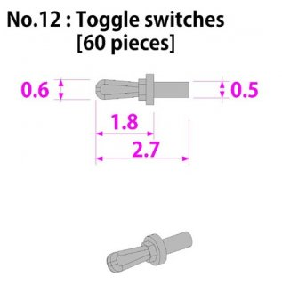 Model Factory Hiro P1028 Toggle switches 0,5/0,6 mm - pack of 60 pc