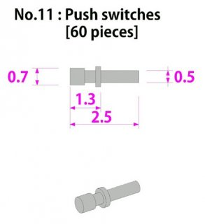 Model Factory Hiro P1026 push switches 0,5/0,7 mm - pack of 60 pc