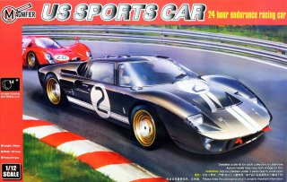 Magnifier US Sports Car - früher Trumpeter 1/12 Automodellbausatz Ford GT40 MKII Le Mans Sieger (1966)