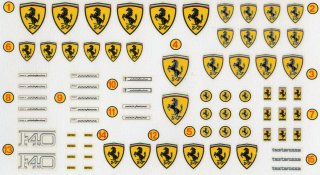 1/18 Ferrari scripts and signs (decals und photoetched parts)