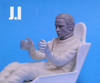 Model Factory Hiro 1/12 figure kit 1082 Jacky Ickx  type 6  (driving)